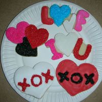 Valentine's Day Cookies NFSC with Antonia's Royal Icing. Sugar sprinkles