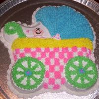 Baby Buggy Cake :) This cake was fun, I actually finished it with minimal mess, which is a first for me..:)~ This is the third cake that I have made since my...
