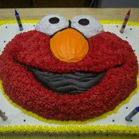 Elmo Birthday Cake This was the cake I made for my son when he turned 2 :) All the kids had bright red mouths by the end of the day! LOL