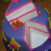 "Sweet 16 I love doing this style of cake! Was sooo much fun! My goal was to really work ont he ""slice"" and make it pop! MMF decorations..."