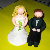 Bride And Groom First time to make a bride and groom!! I had so much fun making them too!! I used 50/50 on both and made the flowers for the bride to match...