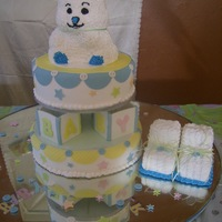 Bear For Baby   Buttercream with fondant accents