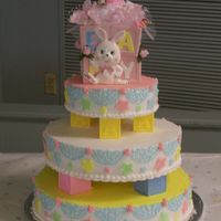 Adrienne Shower Cake 3 tier cake...baby shower cake.