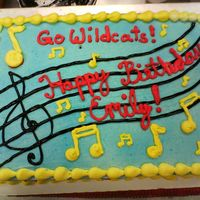 Hsm Cake CSM I did this cake at work. Customer had a general idea and color scheme and gave me some creative freedom. My favorite kind of customer!...