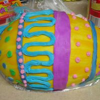 Easter Egg This is the egg half of an egg-in-a-basket cake I'm doing for Easter. Covered in MMF, decorated with MMF and Pillsbury frosting. My...
