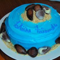 Tchuss Friends This one didn't come out exactly as I'd imagined, but that's ok. It's just a quick, casual cake for a farewell barbeque...
