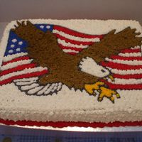 American Eagle/flag Made for my boyfriend's mother's friend's play's after party lol...