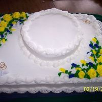 Jeremy & Amy  This was for my bosses son, they had a very simple small wedding and didn't want a tiered cake. it's just a 1/2 sheet cake with a...