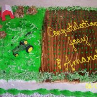 "Grad_Cake_2.jpg this was for a brother and sister that graduated but didn't want a ""normal"" kind of cake. they've grown up on a farm..."
