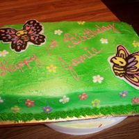 Jamie's Butterflies   done for my friends little girl's 1st b-day, butterflies are b/c transfers