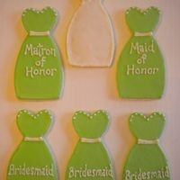 Bride And Bridesmaid Dress Cookies