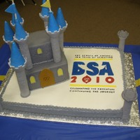 Bsa 100 Anniversary This is the very large cake I made for my son's cub scout blue and gold banquet. It was 24 in x 18 in with an 8 in and 4 in cakes...