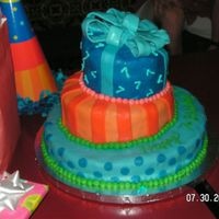 Colorful Topsy Turvey   This was my second Topsy Turvy cake decorated to match the party hats (as seen in the picture).