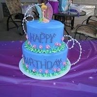 Tinkerbell Cake   This was for my niece's 4th birthday. It's the Wilton cake that I have wanted to make for a long time!