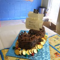 Pirate Ship Cake Ii Same cake, before treasure chest was added.
