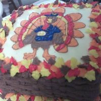 Turkey Cake all buttercream