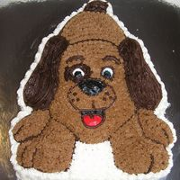 Puppy Cake Chocolate puppy cake made for my daughter coz I love her!! Decorated in buttercream.
