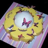 Butterfly Cake My niece wanted a butterfly cake for her birthday. The butterflies are all edible (gumpaste)