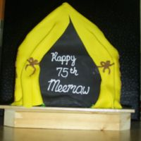 Tent Cake This was for my grandmother's 75th birthday. She is an active Girl Scout who can be found at volunteering at one camp or another...