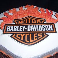 Biker Birthday This cake was inspired by Lisa's... CASC with peanut butter mousse filling (with Butterfinger chunks inside!) and buttercream icing,...