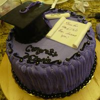 Graduation Cake Buttercream, with fondant decorations, all edible
