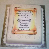 Scrolled Retirement Cake