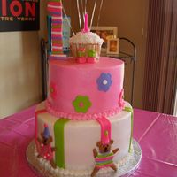 1St Birthday I think this cake is my favorite. This was done for a good friends daughter's 1st birthday. It matched the birthday theme.
