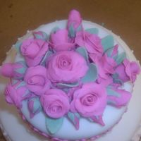 Fondant Roses Another view of my final cake for class III.