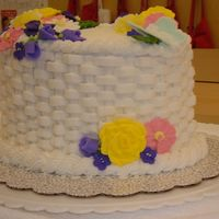 Wilton Class Ii Finale Another view of my final cake for Wilton class II.