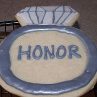 Engagement Cookies  I made these cookies for a friend that is getting married. There are 5 and they say Love, honor, respect, I Do and Cherish. NFSC with...