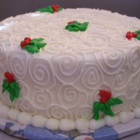 Christmas Swirls I got the inspiration for this cake, but can't find the name the watermark on the original said Cake by audrey...so Audrey? :) Anyway...
