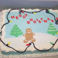 Kids' Christmas Party Cake  I made this cake for my husband's squadron's Christmas party. It was a big hit. Thanks to Sue_dye for all her help as it was...