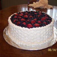 Fruit Basket 3 layers filled with vanilla cream & berries