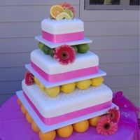 Summer Wedding The idea for this cake came from the bride - and I love it!! 6, 10, and 14 inch WASC cake with buttercream and MMF. The cakes are supported...