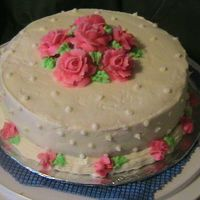 Mother's Day Cake The cake is vanilla with buttercream icing and bc roses