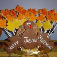 Turkey Birthday My husband's birthday is Nov 25th so instead of doing a birthday cake and thanksgiving, I combined the two. I love this as a...
