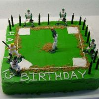 Ty's 13Th Birthday  Buttercream with Wilton basball figures. This was from the Wilton website. I really struggled with the square. It was the first time I...