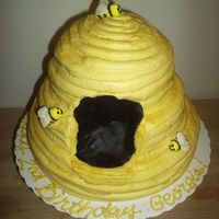 Bee Hive I made this beehive cake for my niece's Winnie the Pooh party. It's buttercream with fondant bumblebees. You can't really...