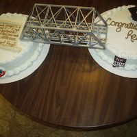 "Nmsu Engineering Degree Cake I did this cake for my cousin who graduated from NMSU with a degree in Engineering. I used two 12"" rounds, connected them with a..."
