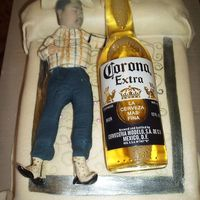 Corona Cake I made this cake and was inspired by Cindymm4's Corona cake. I made this for Cinco de Mayo. I painted the comforter to match their...