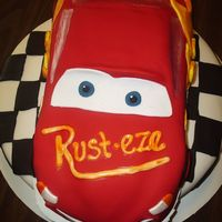 Lightning Mcqueen I used my RaceCakes Nascar pan to make Lightning McQueen. I had so much fun making this cake! Everything is Satin Ice Fondant (LOVE that...