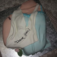 Shoulder Cake This is a cake ordered by a friend as a thank you to the nurses who took care of her after her shoulder surgery. Vanilla pound cake with...