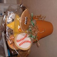 Sports Bouquet sugar cookie bouquet.