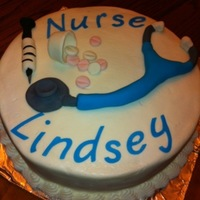 Graduation From Nursing School Yellow cake with buttercream frosting for my niece