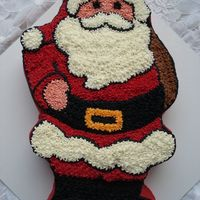 Santa Buttercream Santa made with startip.