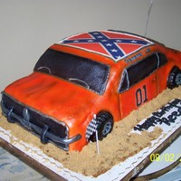 Dukes Of Hazzard My first 3d car carved cake.