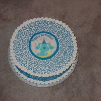 Blue's Clues Blues Clues cake with one of those edible transfers