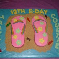 Flip-Flops Cake I made this for my daughter's 12th birthday. Everyone loved it. This was fun and simple to do.