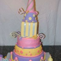 Frou Frou Cake This was my first project after taking the 'Wilton Classes' for my daughter's 4th birthday. All fondant, 2 dummies and...