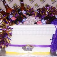 Lsu Ice Chest Cake This was a groom's cake. 4 layers of choc cake. This was my first attempt at an ice chest so the top rim of the cake is actually the...